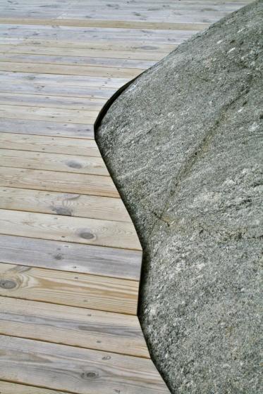 Figursågning mot berg Lilla Jutskär